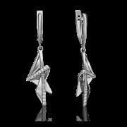 """Серьги""""Trend Line""""арт. 02-4332-00-401-1120-48-123, Золото 585 пробы, производитель ООО ТД Платина Кострома. Россия. (вес 3,63 г)"""