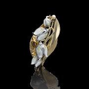 """Брошь""""МИРАЖИ"""" арт. 04-0165-00-000-1121-59-442, Золото 585 пробы, производитель ООО ТД Платина Кострома. Россия. (вес 2,85 г)"""