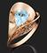 "Кольцо""ГРАВИТАЦИЯ""арт. 01-4963-00-201-1110-46-790, Золото 585 пробы, производитель ООО ТД Платина Кострома. Россия. (вес 2,15 г) - фото 15436"