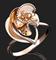 """Кольцо""""КАПРИЗ""""арт. 01-4989-00-000-1110-48-448, Золото 585 пробы, производитель ООО ТД Платина Кострома. Россия. (вес 2,01 г) - фото 15437"""