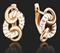 """Серьги """"МИРАЖИ"""" арт. 02-3642-01-000-1110-25-380, Золото красное 585 пробы, производитель ООО ТД Платина Кострома. Россия. (вес 3,84 г) - фото 15443"""