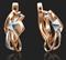 Серьги арт. 02-4118-00-000-1111-04-448, Золото 585 пробы(красн+белое), производитель ООО ТД Платина Кострома. Россия. (вес 3,05 г) - фото 6868