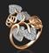 """Кольцо""""МЕТАМОРФОЗЫ""""арт. 01-3653-00-401-1110-24-551, Золото 585 пробы, производитель ООО ТД Платина Кострома. Россия. (вес 3,32 г) - фото 8762"""